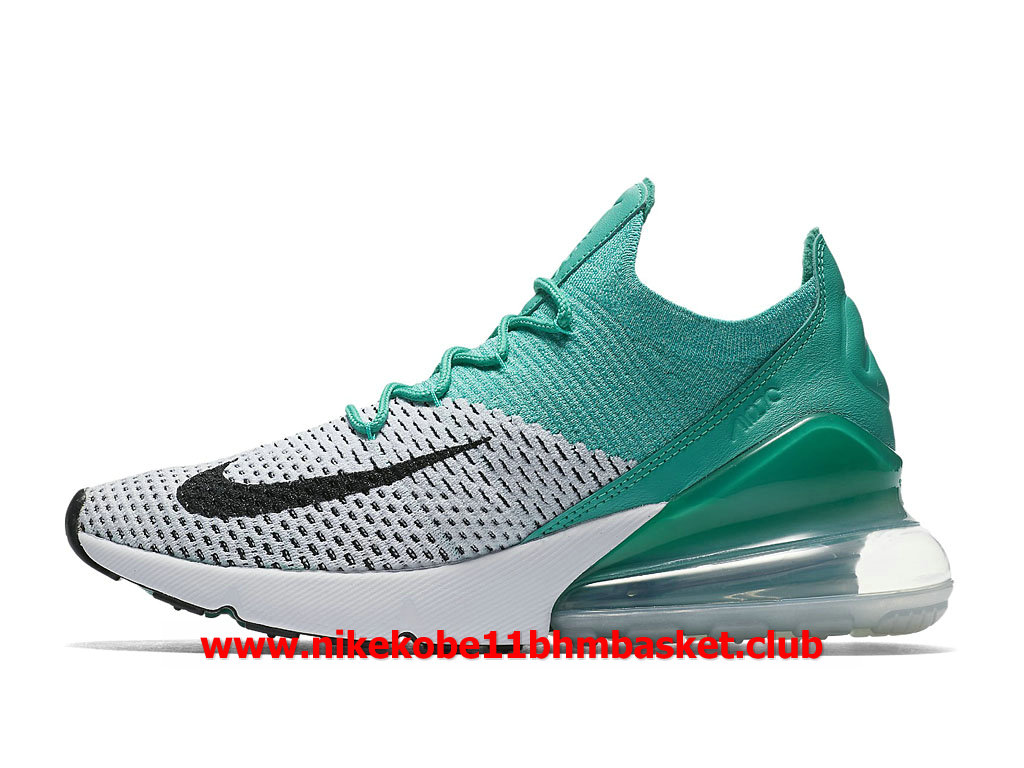 Nike Air Max 270 Flyknit Casual Femme Chaussures Prix Pas Cher VertGrisBlancNoir AH6803_300 1805140579 Chaussures Nike Kobe BasketBall Prix Pas